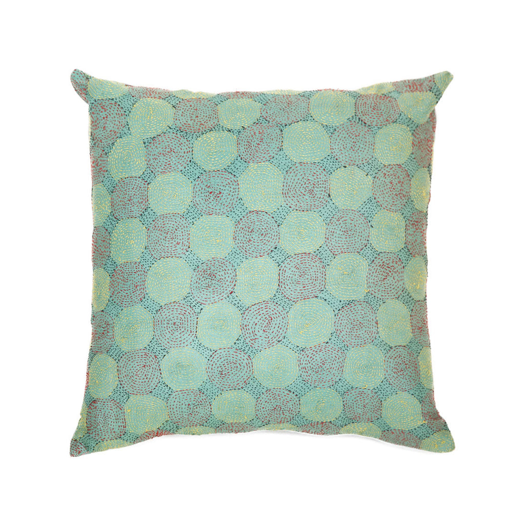 planet handwoven silk cushion