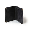 zip detail wallet, small black