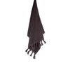 100% organic handloomed cotton bath towel - charcoal