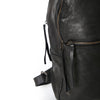 leather black backpack