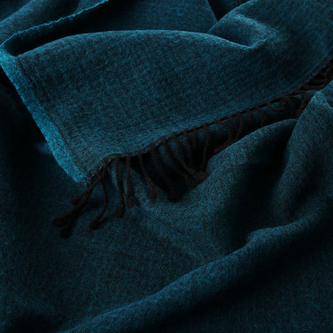 turquoise blue boiled wool throw