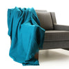 bright turquoise boiled wool throw