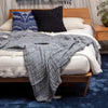 100% linen bed cover - navy