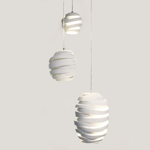 pendants porcelain cut series light