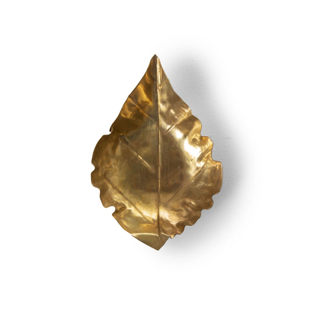 pressed metal leaf - medium