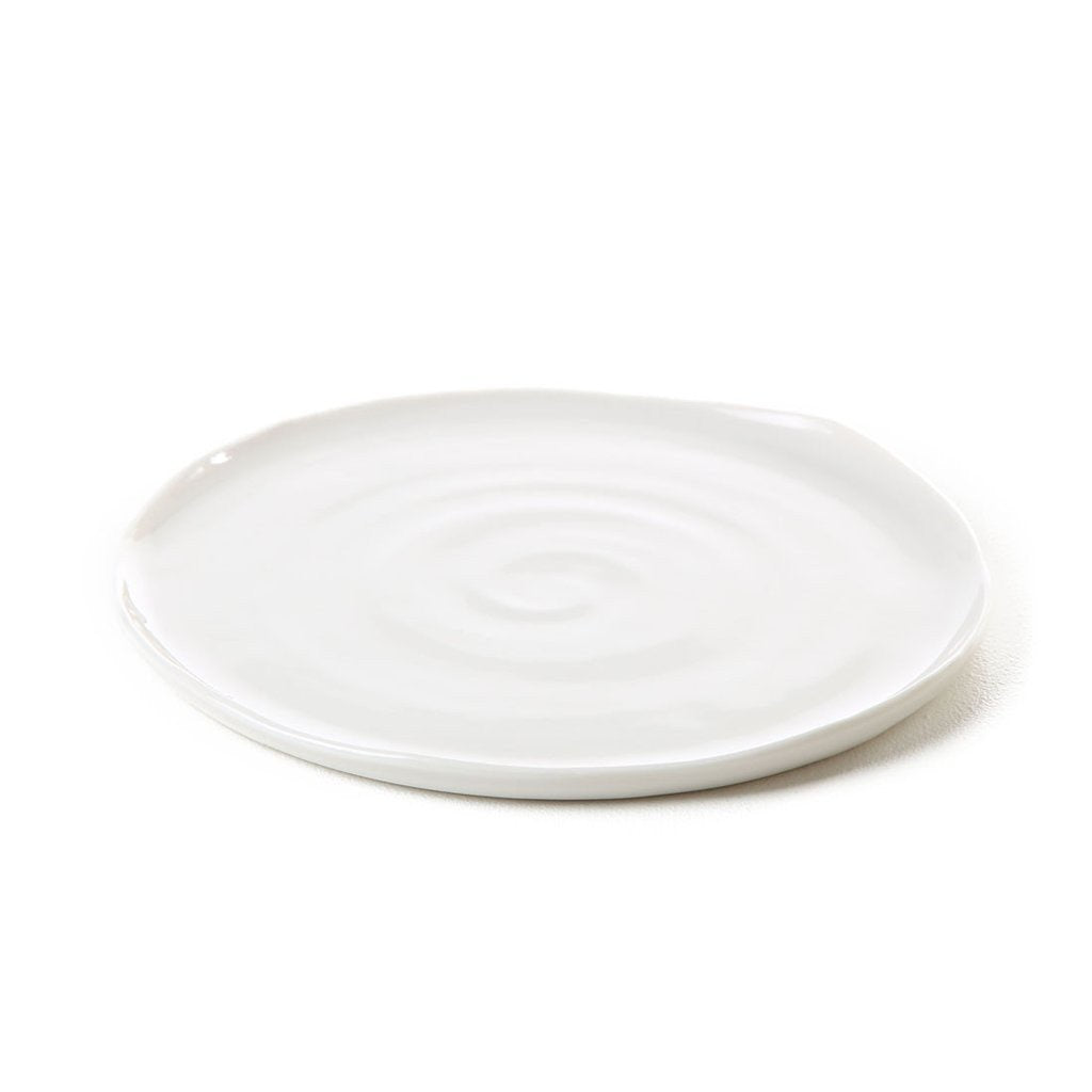 coad hand thrown porcelain dinner plate 8x total, 8x remaining