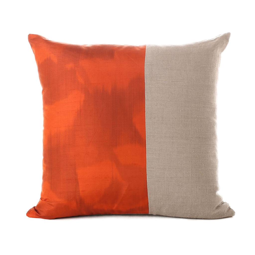 planet silk and linen cushion