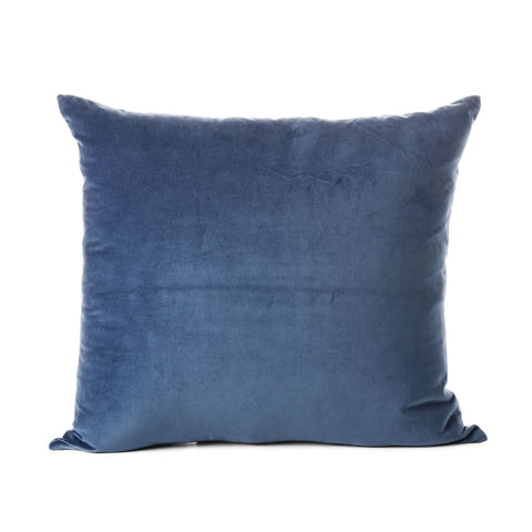 velvet cotton cushion - blue 50x55cm