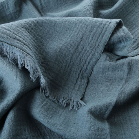 french blue boiled wool throw