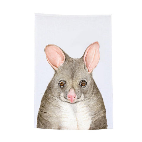 possum tea towel
