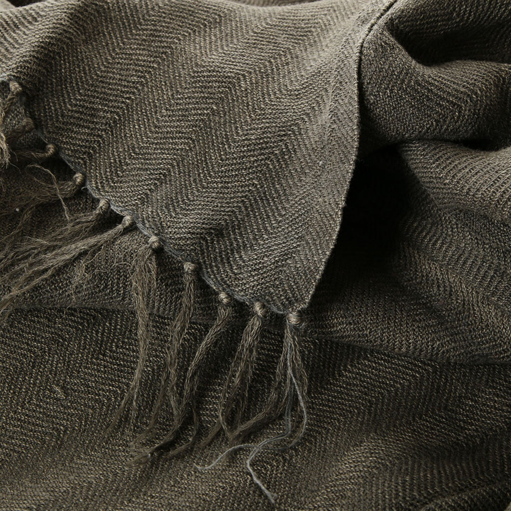 100% linen bed cover - charcoal