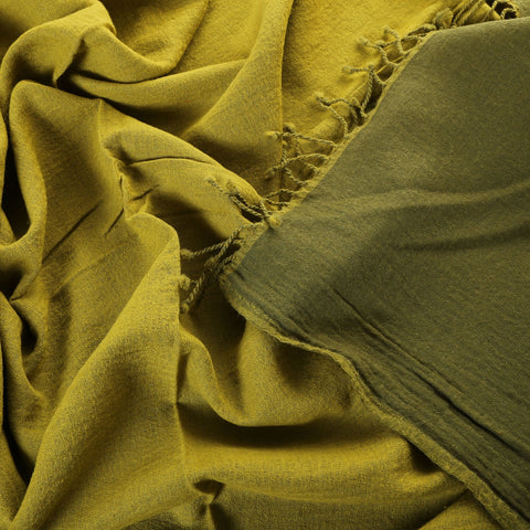 olive/pear green boiled wool throw