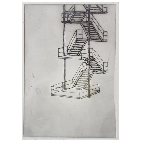 bec stevens - BS#43 - staircases ladders & bridges - kelly's garden fire exit, salamanca, hobart