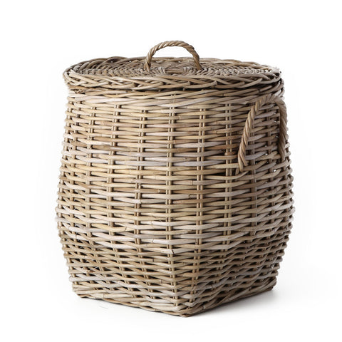 rattan kubu french lidded belly basket