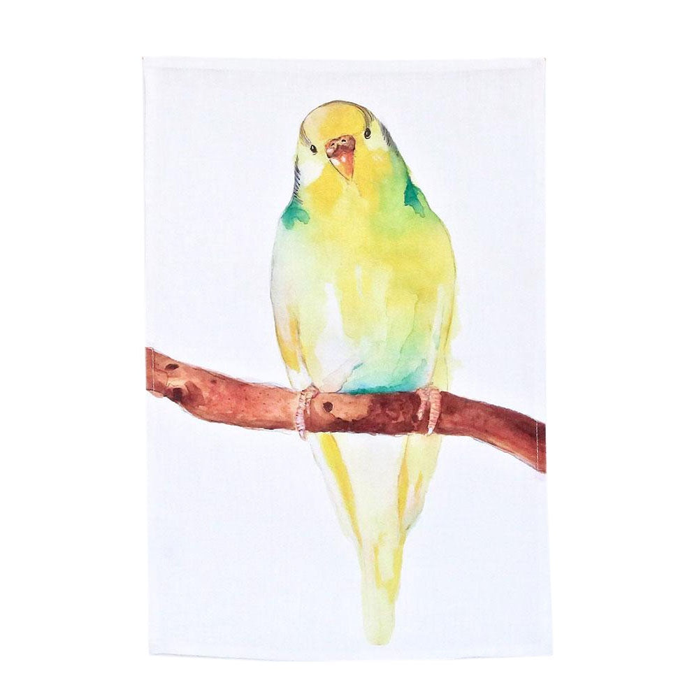 budgie tea towel