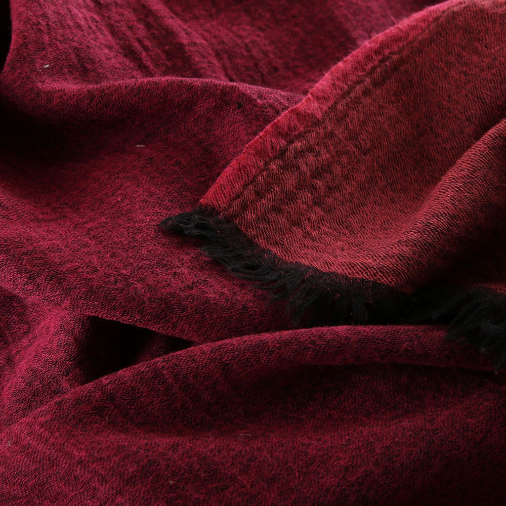 raspberry boiled wool throw