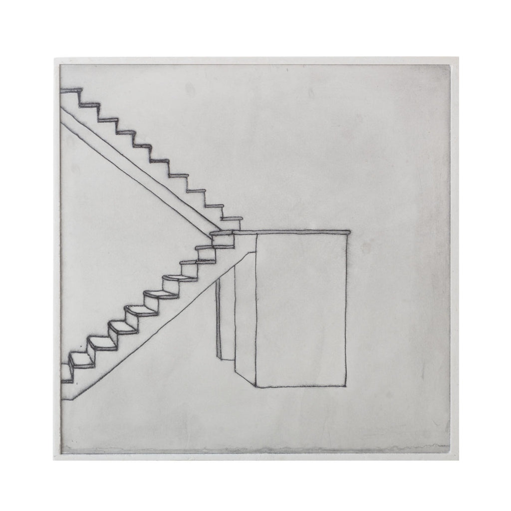 bec stevens - BS#63 - staircases, ladders & bridges. unfinished stair, bay rd, new town