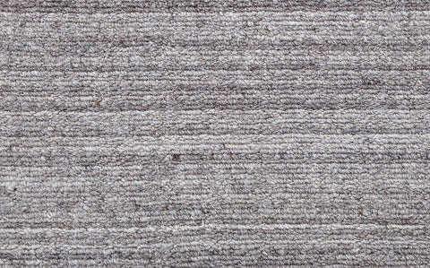 wool loop pile hand loomed light grey carpet