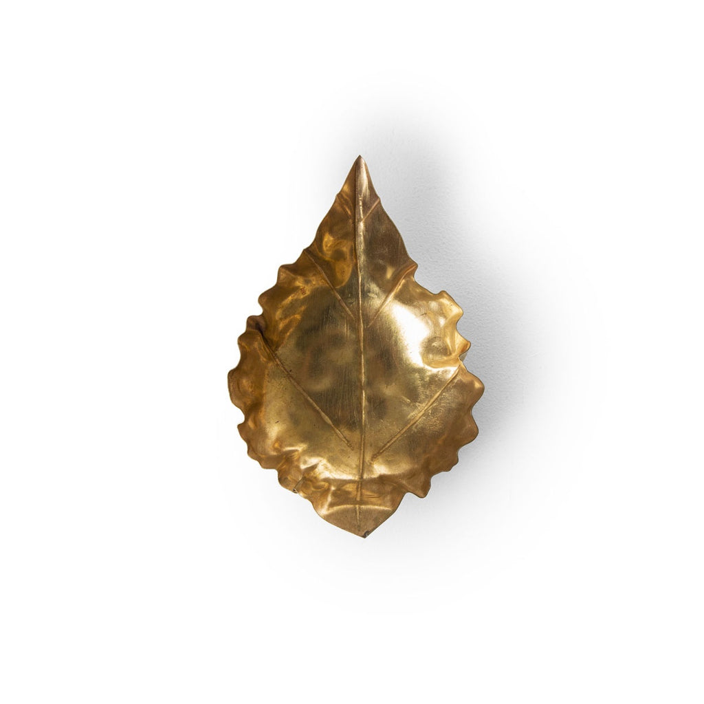pressed metal leaf - small