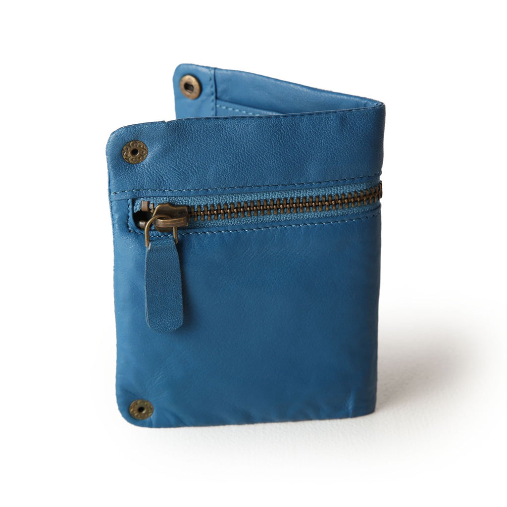 zip detail wallet - small - blue