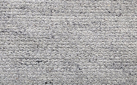hand woven cut pile thick wool grey carpet