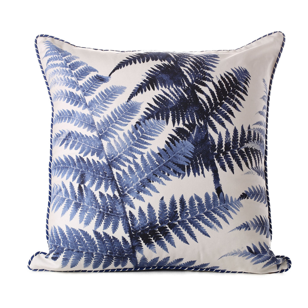 midnight tree fern cotton cushion 60 x 60cm