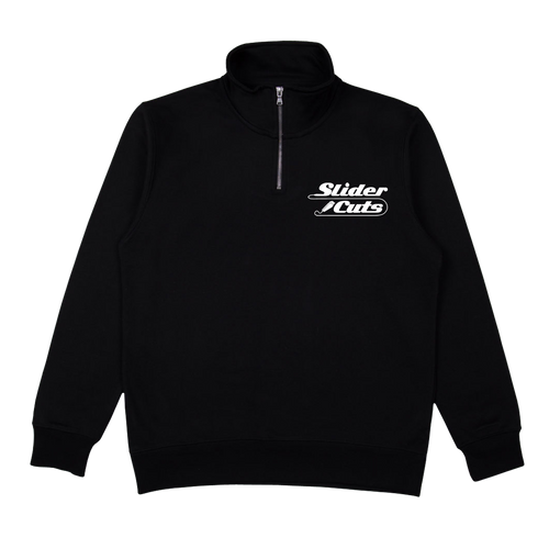 BLACK SLIDERCUTS ZIP NECK JUMPER