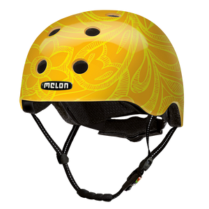 Fahrradhelm Urban Active »Mellow Yellow« - Ornament Gelb Orange