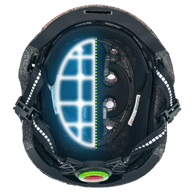 Melon Urban Active Helmet inside view with features and airflow channels