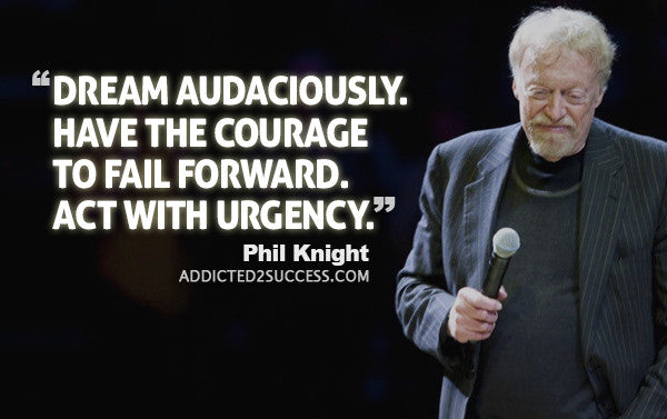 phil knight shoe doe success quote