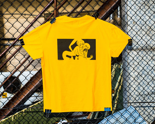 Big Kid Clothing - Big Kid Clothing, Inside/out Tee - Mustard, Tee