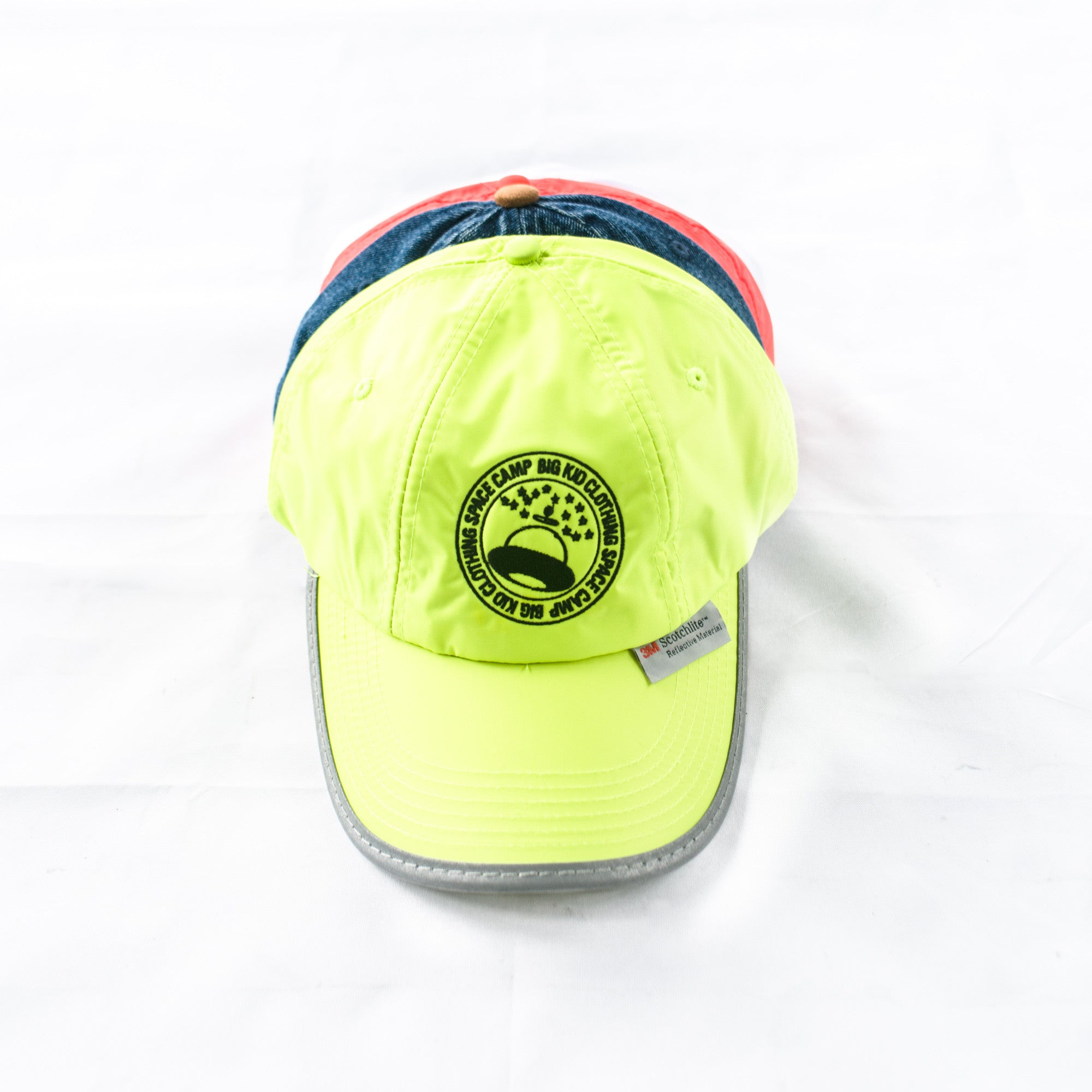 Space Camp Reflective Cap – Fluro Green 3M