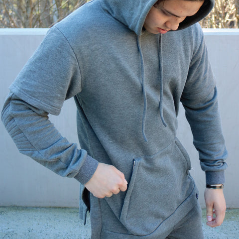 Big Kid Clothing - Big Kid Clothing, Be You Double Sleeve Hood - Grey, Double Sleeve Hood