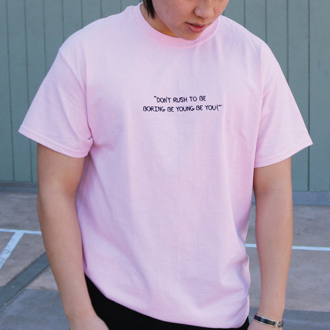 DON'T RUSH TEE (Pink)