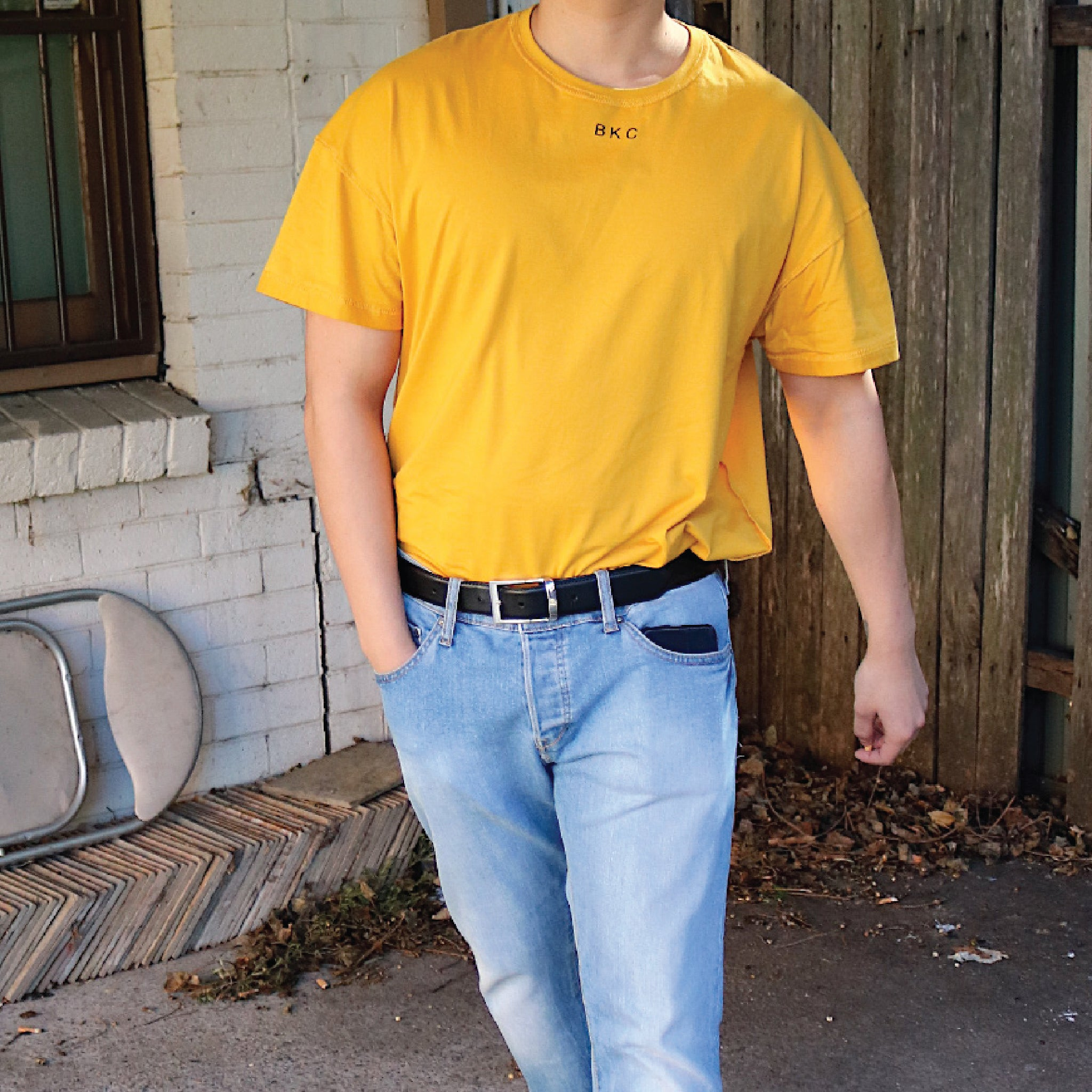 Inside/out Tee - Mustard