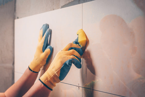 remove residue and film from grouting