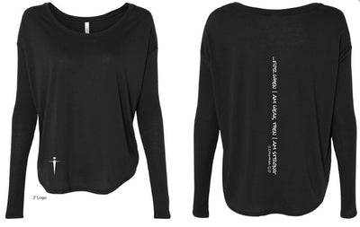 ATHLETIC HEATHER BLACK LONG SLEEVE | WOMEN | LWBJ STYLE | LADIES FLOAT
