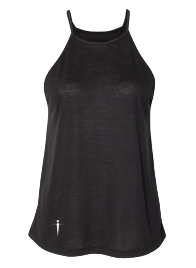 HIGH NECK MIDNIGHT BLACK TANK IN | WOMEN | LWBJ TOPS
