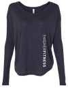 ATHLETIC HEATHER MIDNIGHT BLUE LONG SLEEVE | WOMEN | LWBJ STYLE | LADIES FLOAT