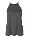 HIGH NECK DARK GREY HEATHER TANK IN | WOMEN | LWBJ TOPS