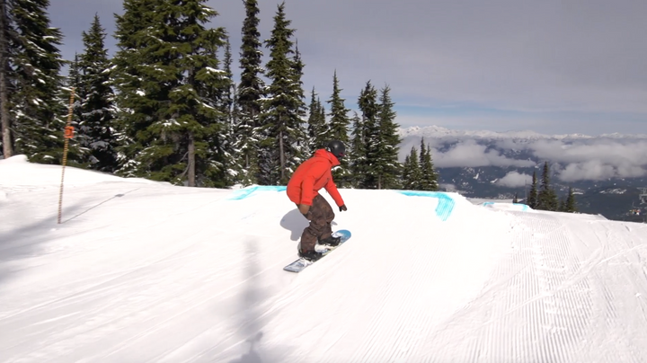 Your First Jump On A Snowboard