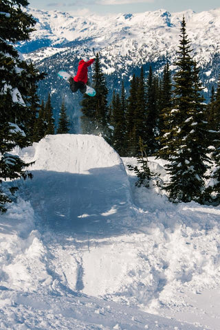 Tino's method grab in the backcountry