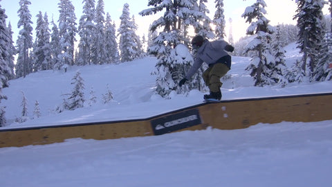 Tail Slide On Snow