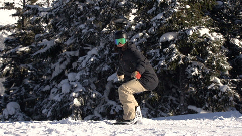 Balanced Position On A Snowboard