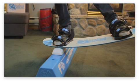 Practice snowboarding in your living room
