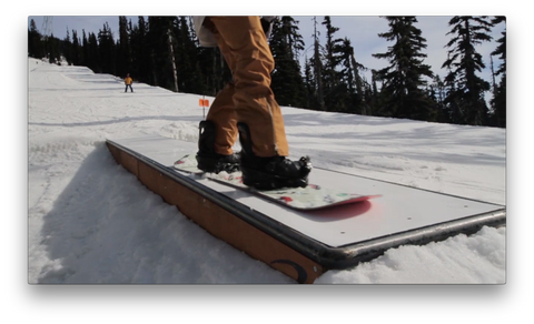 Keep Your Snowboard Completly Flat on the Feature