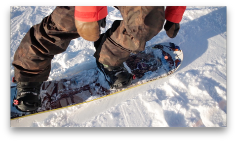 Pick A Spot On The Tail Of Your Snowboard