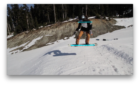 Keep Your Shoulder Parallel And Aligned With Your Snowboard