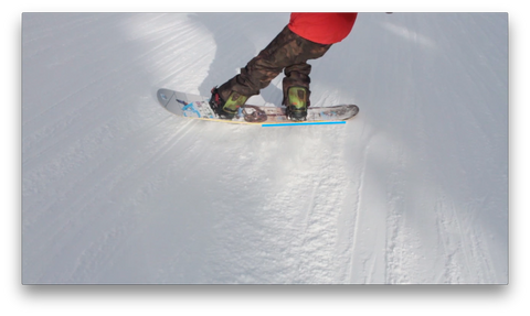 Buttering On A Snowboard