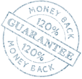 120% Money back guarantee